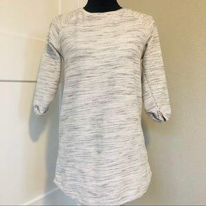 Topshop gray top tunic shirt 3/4 sleeve